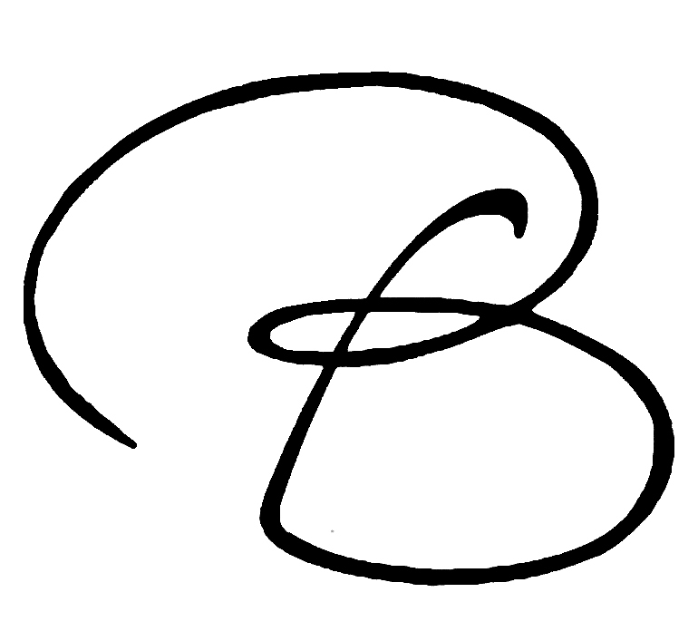 The Letter B In Cursive - More information