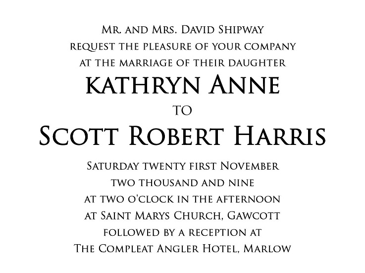 Wedding invitation font discussion thread click for full size image stopboris Images